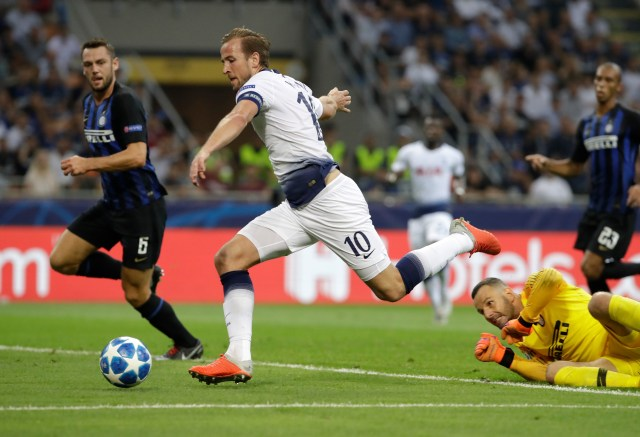 Harry Kane went close but could not find the net at San Siro