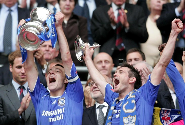 Terry and Lampard both also collected FA Cup winners' medals (Martin Rickett/PA)