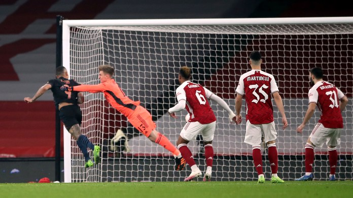 Jesus scored in the midweek win over Arsenal