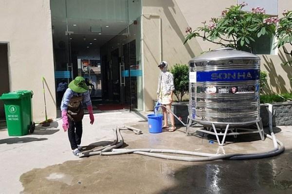 Chung cư ở Hà Nội không dám dùng nước sinh hoạt vì dính bể phốt - ảnh 3