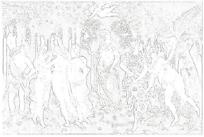 サンドロ・ボッティチェリの大人の塗り絵 「春」 ぬり絵リラックス(無料