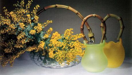 200404 春花籠 有松啓介吹きガラス作品展