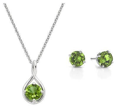 Crystals rare, usually striated prisms, corroded grains; August Birthstone Jewelry Brilliant Earth