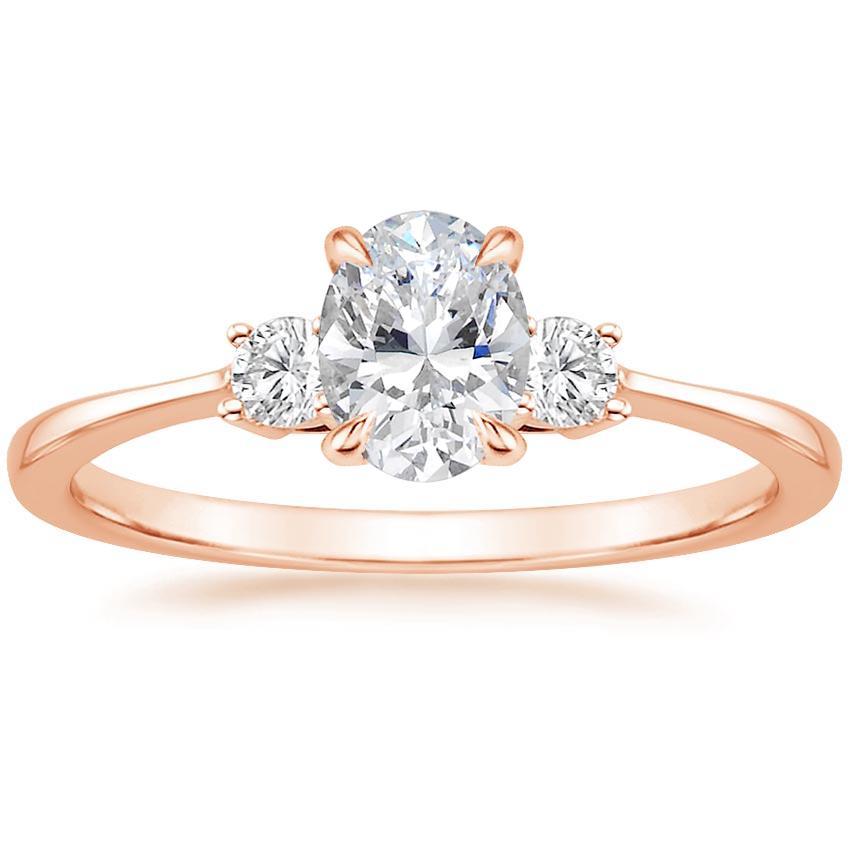 14k Rose Gold Selene Diamond Ring