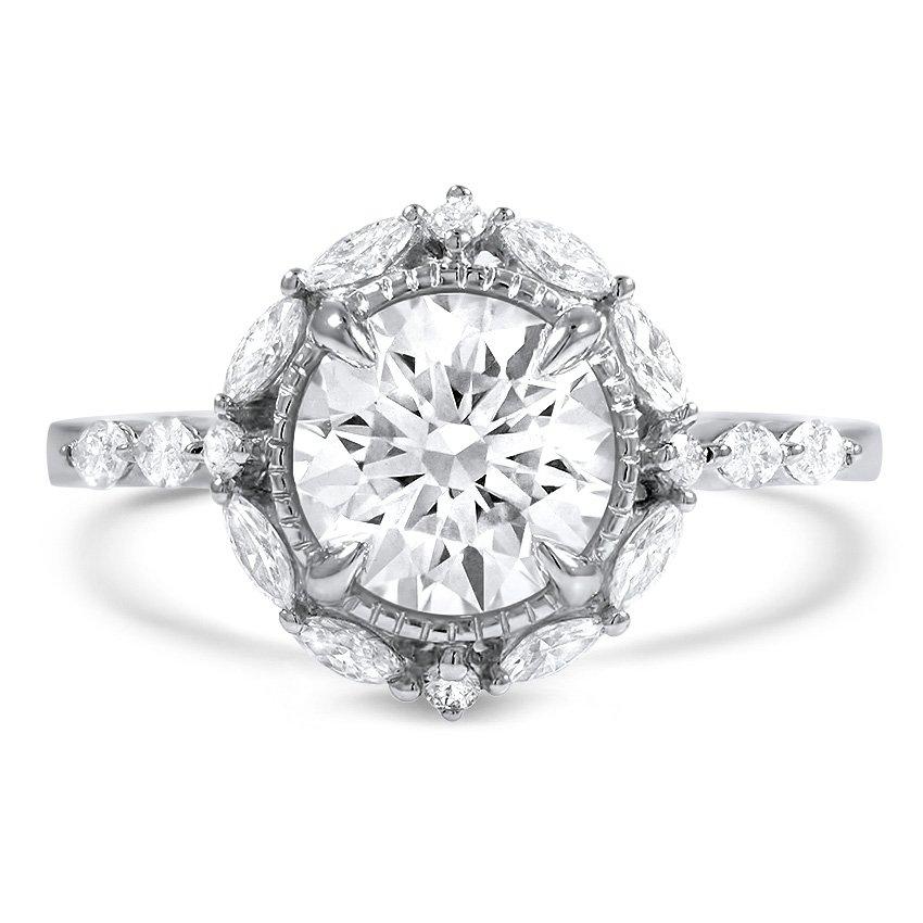 Custom Marquise Halo Diamond Ring Brilliant Earth
