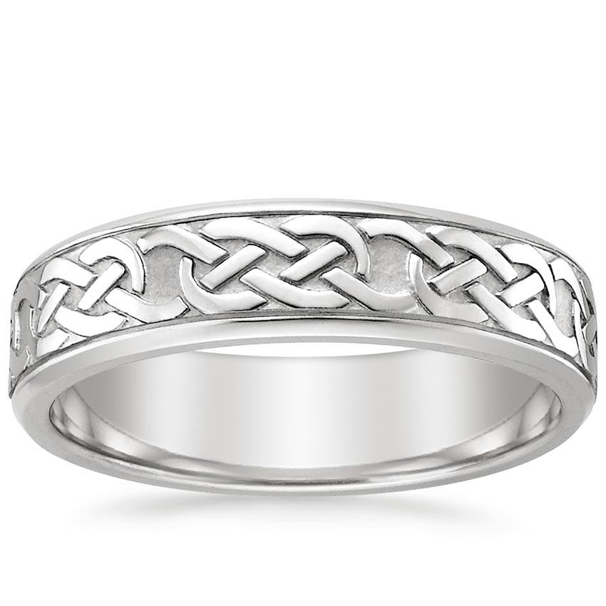 Celtic Eternity Knot Ring Brilliant Earth