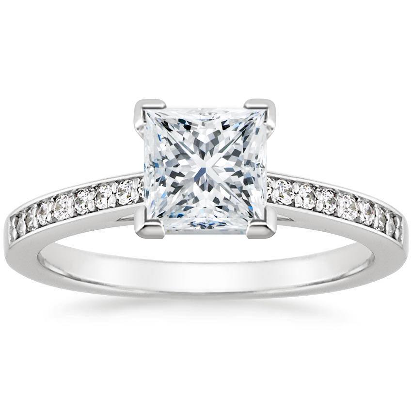 Pav Engagement Ring Setting Starlight Brilliant Earth