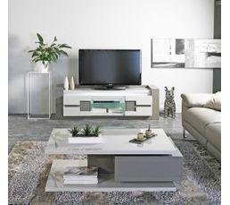 meuble tv rimini taupe gris