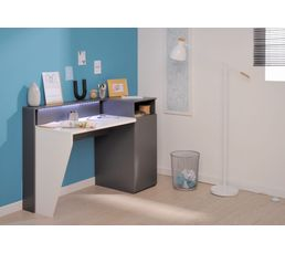 Bureau Gris Et Blanc Maison Design