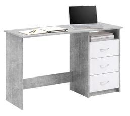 bureau adria beton et blanc