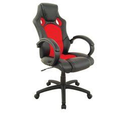 fauteuil de bureau turbo noir rouge
