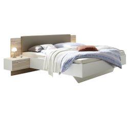 lit 140x190 cm avec chevets suspendus gravita