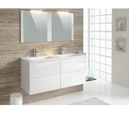 meuble salle de bain 120 blanc bright