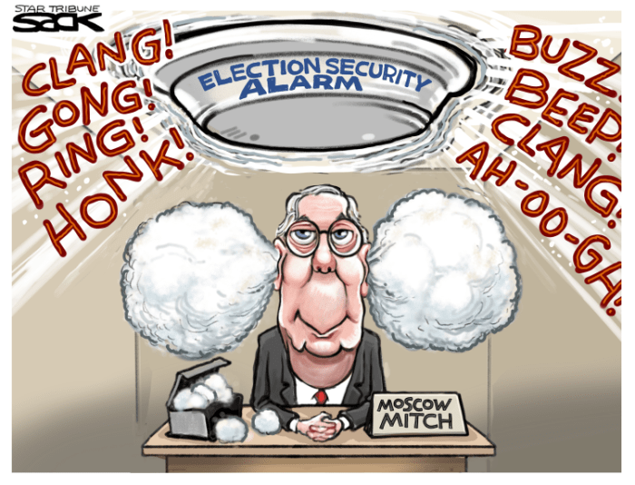 Editorial Cartoon: Moscow Mitch