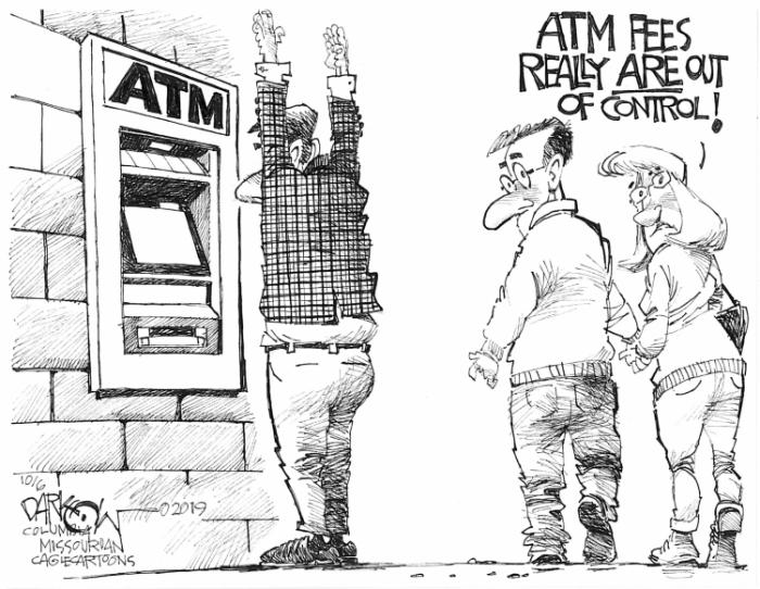 Editorial Cartoon: ATM Fees