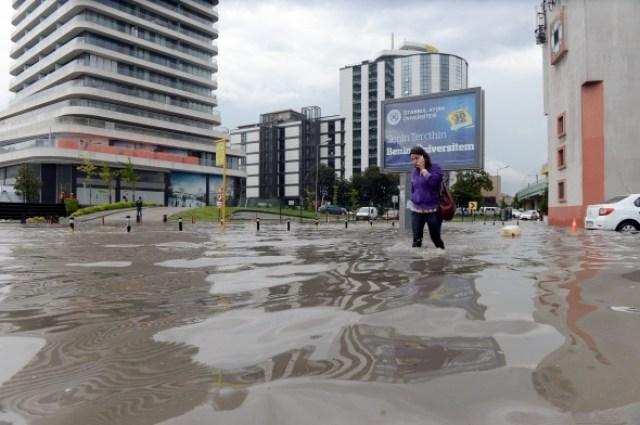 İstanbul'dan sel manzaraları