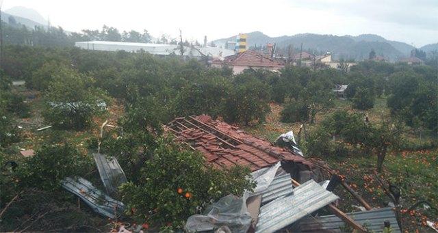 Antalyada şiddetli fırtına ve hortum