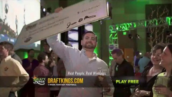 DraftKings Fantasy Football TV Commercial, 'Giant Check ...