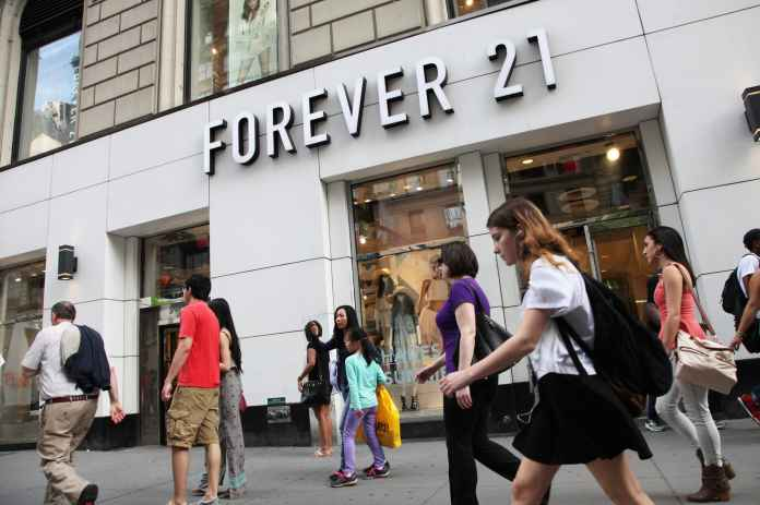 Image result for Forever 21 Weighs Bankruptcy