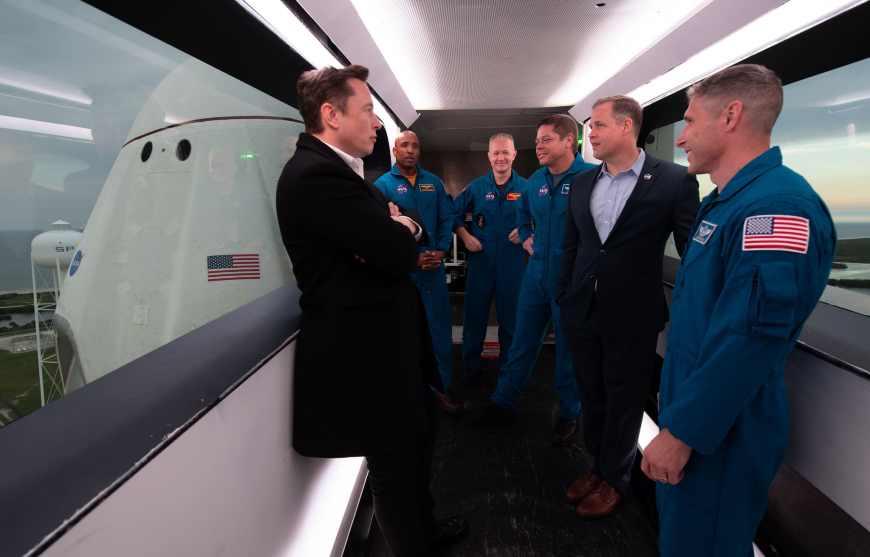 H/O: SpaceX Elon Musk Crew Dragon NASA 190307 EC