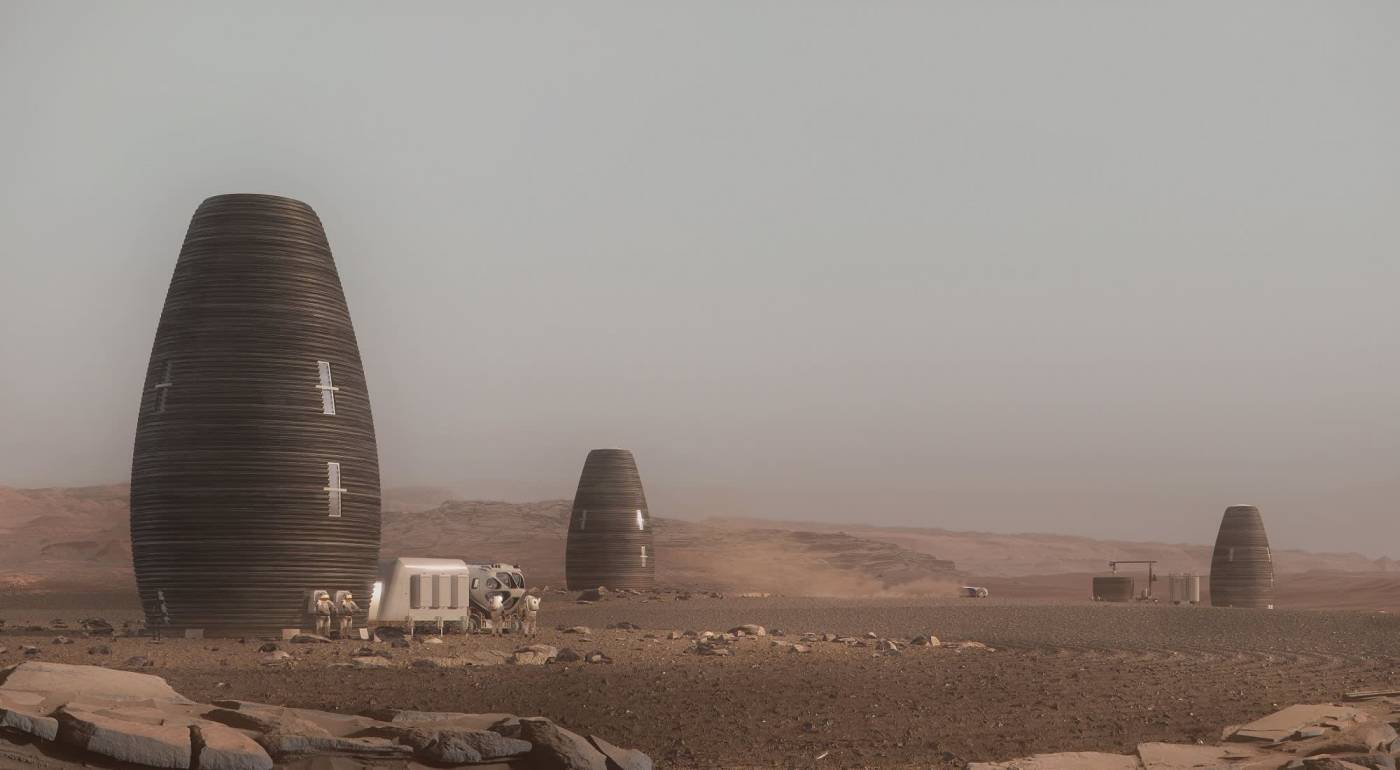 Pictures: NASA-approved designs for 3D-printed homes on Mars