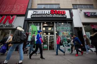 GameStop is up about 70% and trading briefly stalled amid the epic short contraction