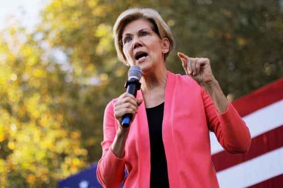 Presidential candidate and U.S. Senator Elizabeth Warren (D-MA) speaks at a campaign rally at Keene State College in Keene, New Hampshire, September 25, 2019.