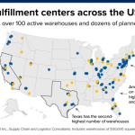 Map Of Amazon Warehouses