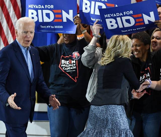 Biden Buttigieg Bloomberg Attack Projected Caucus Winner Bernie