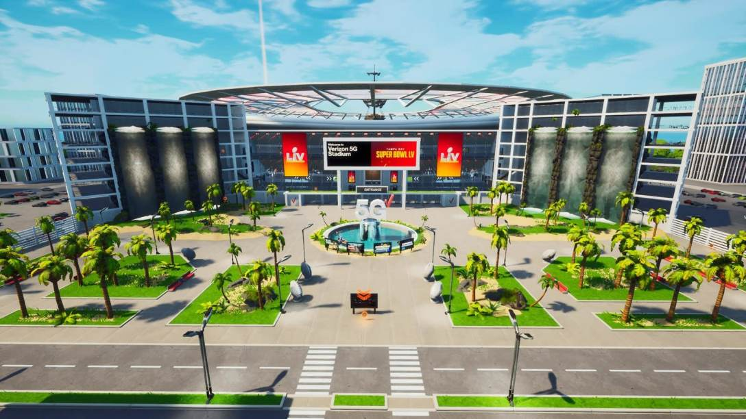 Verizon's virtual Fortnite stadium.