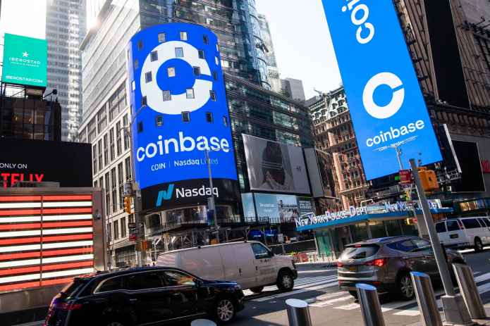 Coinbase revenue tripled from last quarter as crypto prices skyrocketed