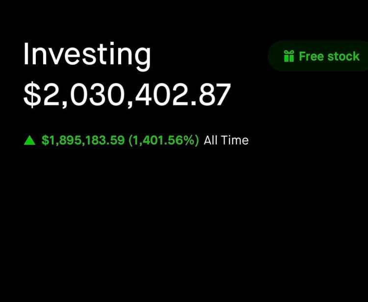 A screenshot of Glauber Contessoto's dogecoin holdings on Robinhood.