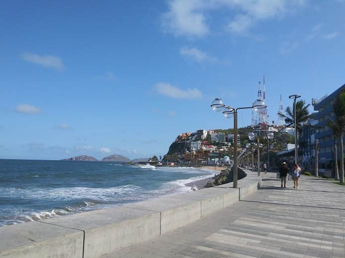 A morning walk along the beach near my house, with Mazatlán's three islands just offshore.