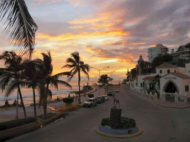 """Beautiful, colorful sunsets are the norm here in Mazatlán, known as the """"Pearl of the Pacific."""""""