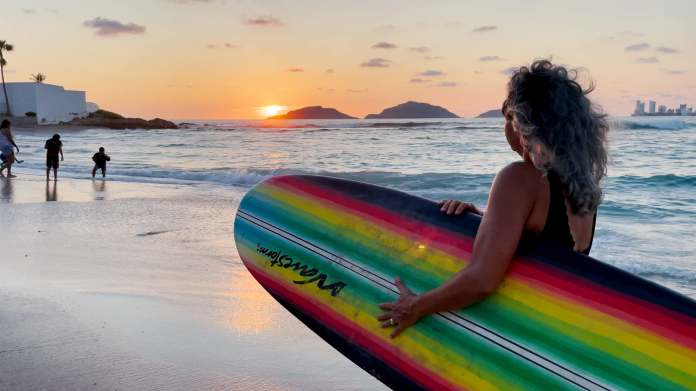 With Mazatlán's three islands just offshore, a sunset surf session is doubly wonderful.