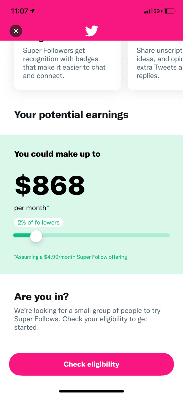 Super Follows: Now, You can earn big Money Online On Twitter.