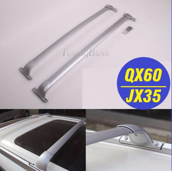 roof rack aluminum crossbars luggage racks carrier baggage holder for infiniti qx60 jx35 2013 2017 1 piece package