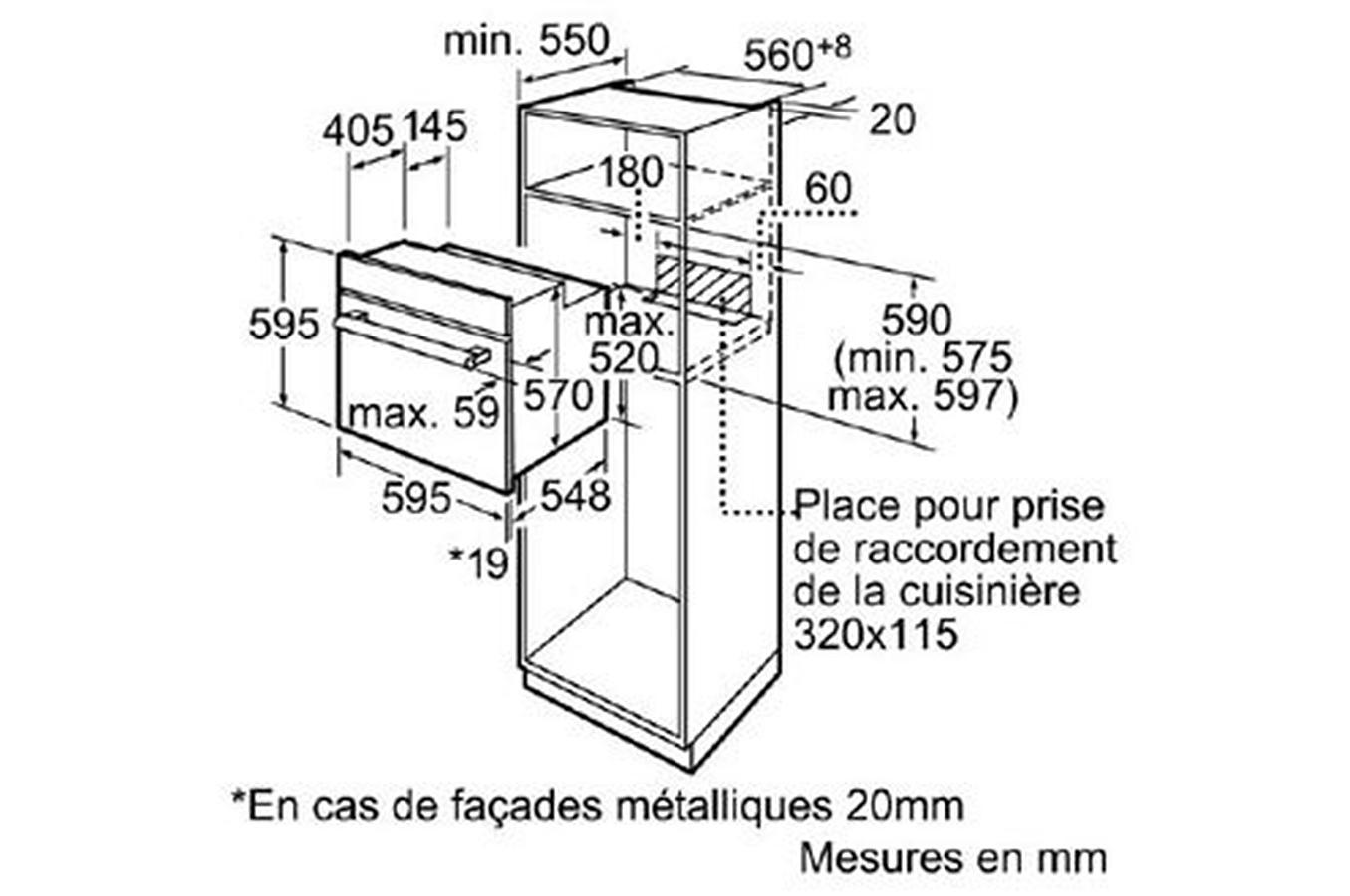 Four Encastrable Bosch Hba63a263f Noir