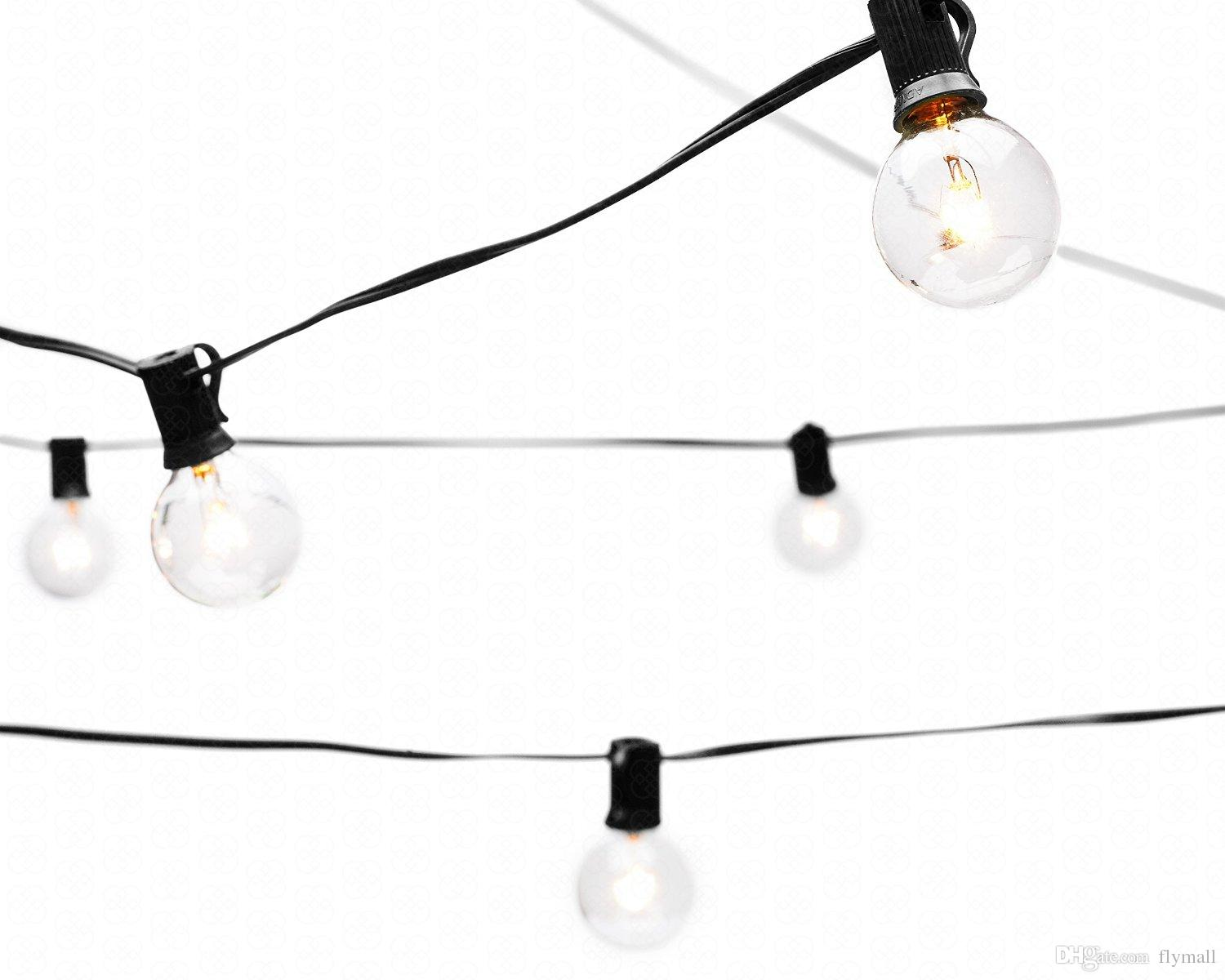 String Lights 25ft Clear Globe Bulb G40 String Light Set With 25 G40 Bulbs Included Patio Lights