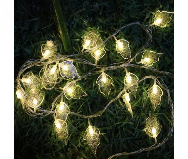 M Leds Colorful Led String Leaf Flashing Christmas Tree Lights Diy Garlands For Holiday Party Wedding Decoration Garland Q High Quality Party Diy