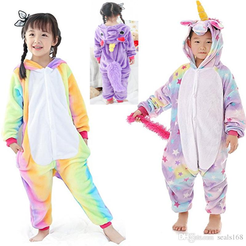 Image of: Totoro Onesie 2019 Children Unicorn Onesies Pajamas Boys Girls Animal Flannel Cosplay Costume Sleepwear Clothing Homewear 36 Designs Hh7 300 From Seals168 Wild Nights Fancy Dress 2019 Children Unicorn Onesies Pajamas Boys Girls Animal Flannel