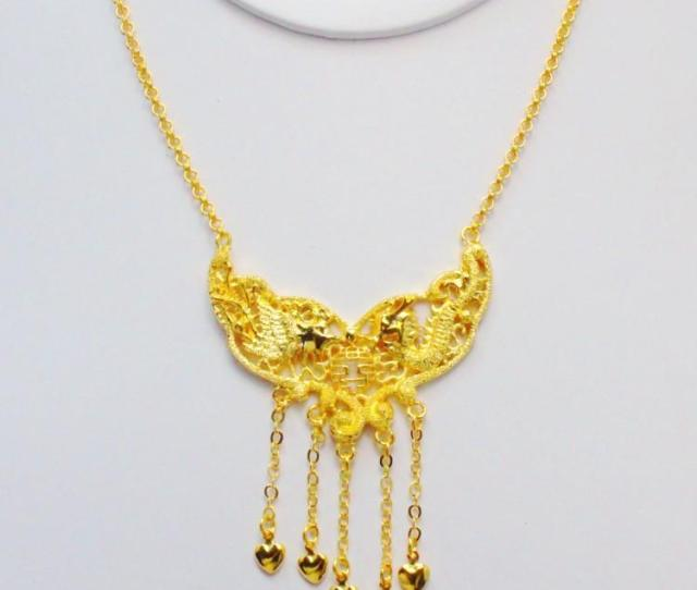 Wholesale Small Dragon Brand Bride Wedding Necklace Gold Plated Imitation Of Thousands Of Gold Color Wedding Jewelry Wedding Supplies Mens Necklaces Silver