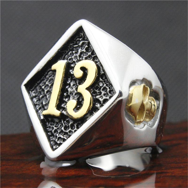 Fashion Biker Rings Cool 316l Stainless Steel Golden Skull