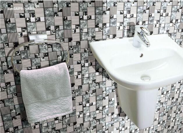 2019 Metal Glass Mosaic Tiles Backsplash Shower