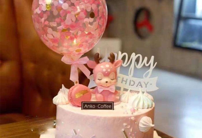 2019 Cartoon Sika Deer Cake Decoration Creative Birthday Cake Doll