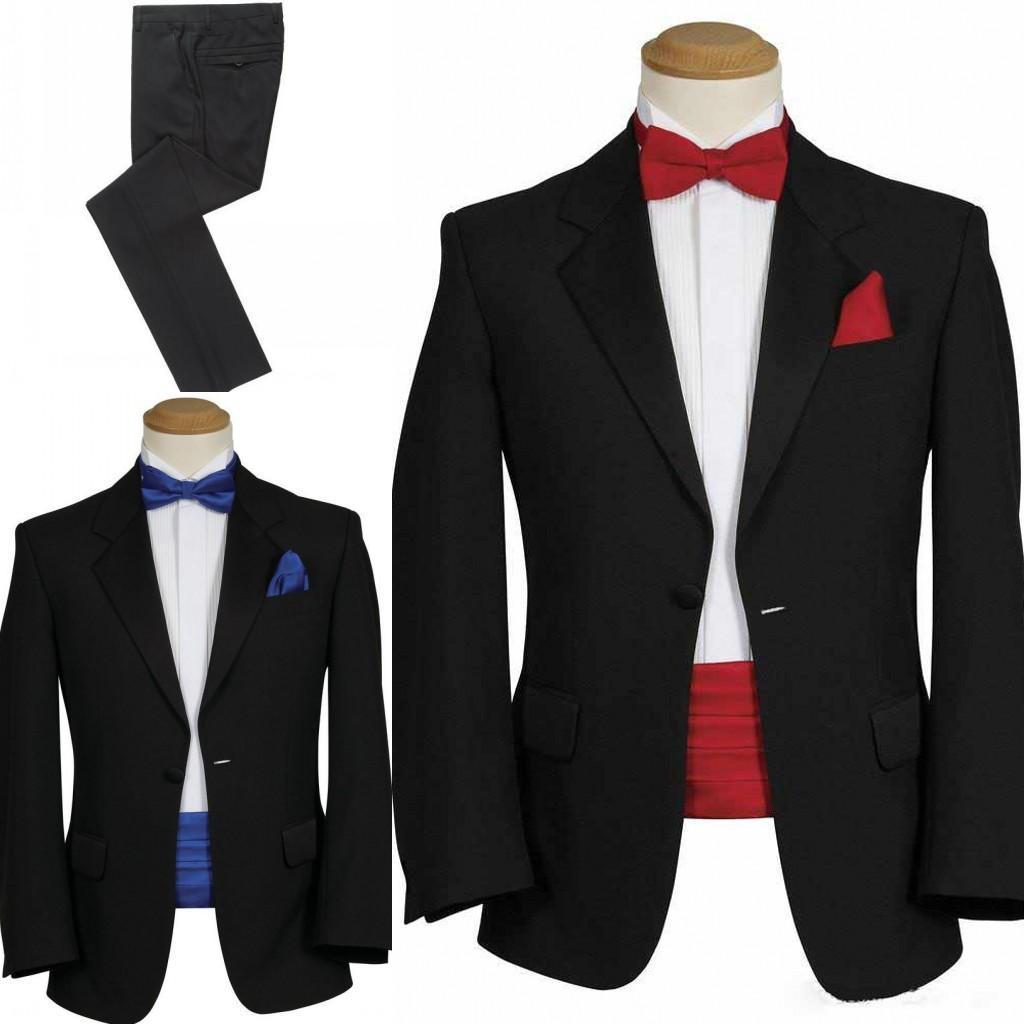 2016 High Quality New Design Black Red Formal Groom