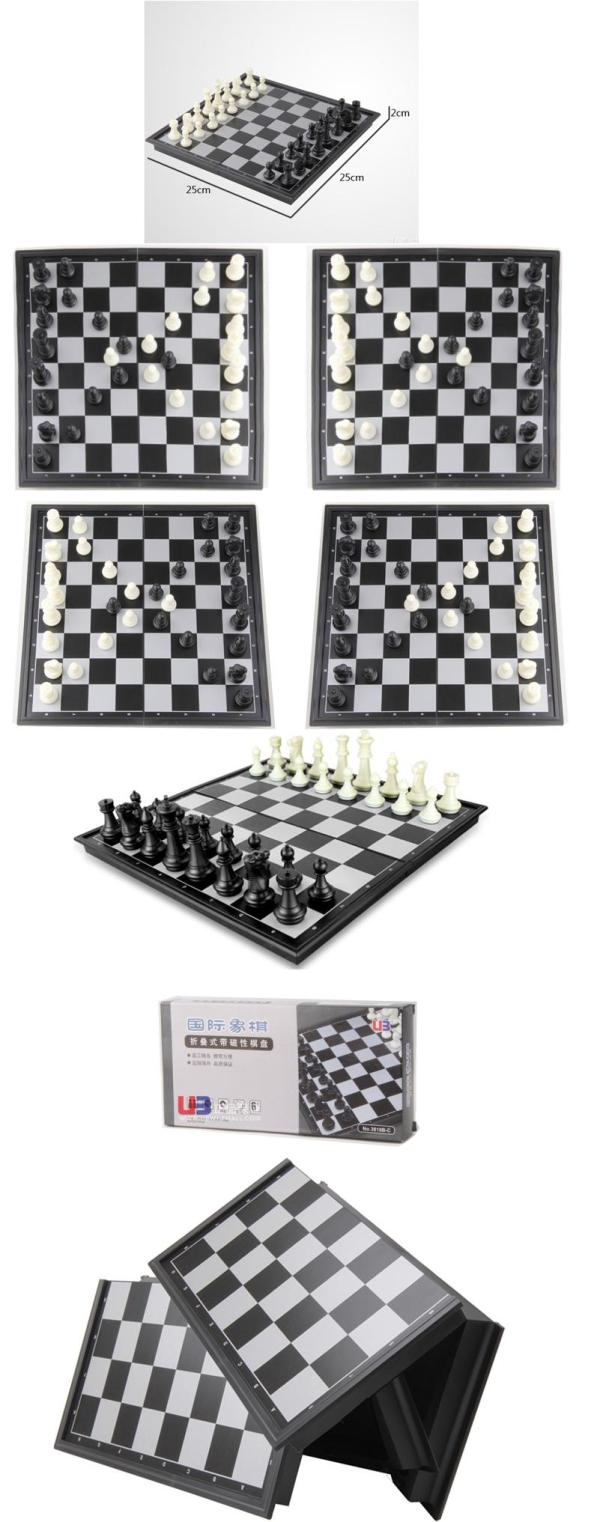 High Quality Folding Champions Chess Set 2 In 1 Travel ...
