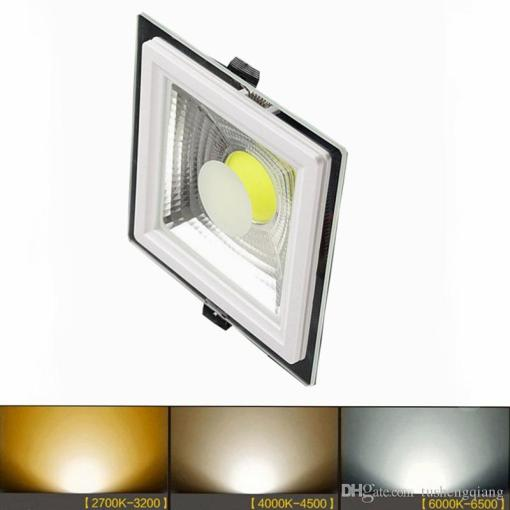 2018 Led Panel Lights Change Led Cob Glass Downlight Indoor Lamps 5w     2018 Led Panel Lights Change Led Cob Glass Downlight Indoor Lamps 5w 10w  15w Recessed Ceiling Lighting Family Office Tall Shop Stroe From  Tushengqiang