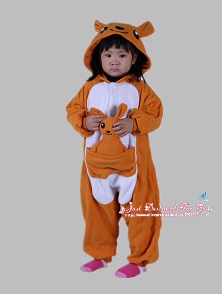Image of: Kigurumi 1510 Newest Cute 3d Kangaroo Kids Animal Onesies Cosplay Pajamas Boys Girls Winter Warm Pyjamas Jumpsuit Polar Fleece Christmas Gift Christmas Romantic Kcm Australia Onesie 1510 Newest Cute 3d Kangaroo Kids Animal Onesies Cosplay Pajamas