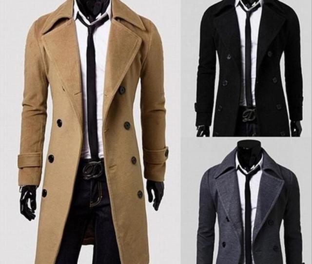 2019 New Brand Winter Mens Long Pea Coat Mens Wool Coat Turn Down Collar Double Breasted Men Trench Coat From Freedom Dhgate Com